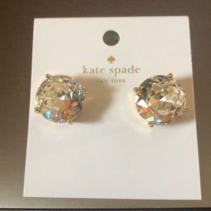 Kate Spade Large Gumdrop Studs - Clear